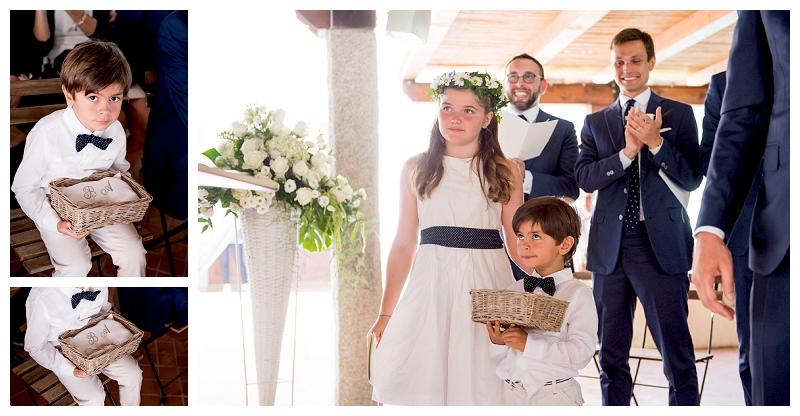 Cuscino fedi matrimonio Olbia