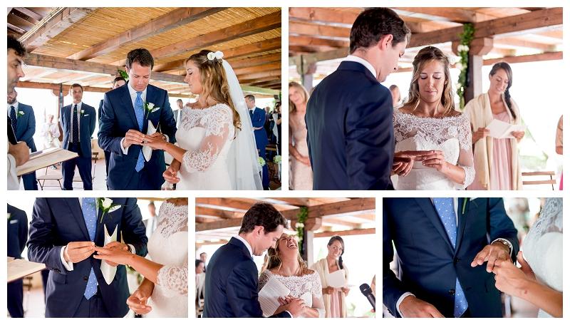 foto fedi matrimonio Costa Smeralda
