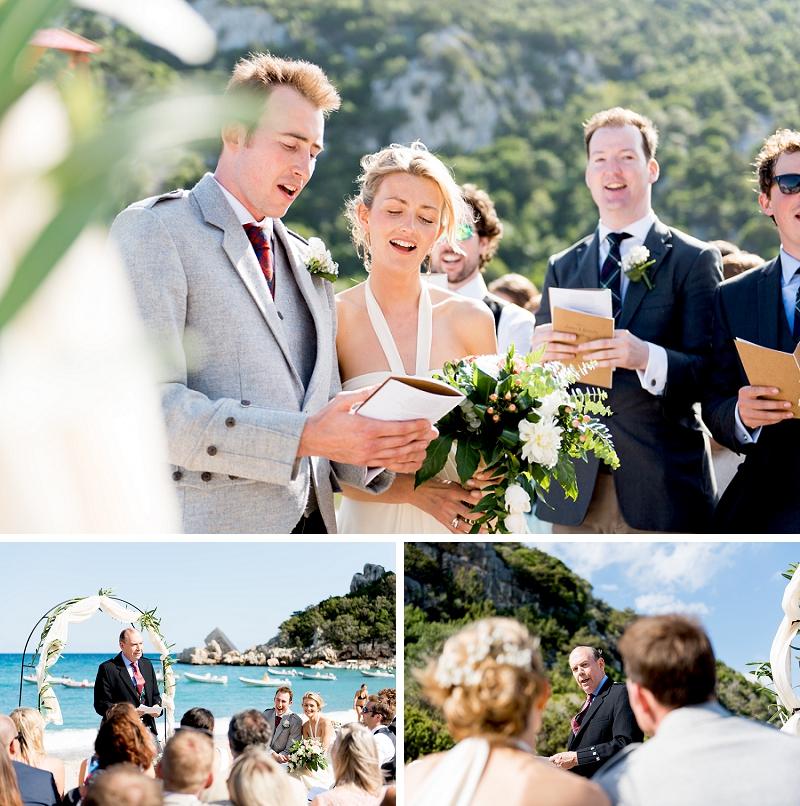 Matrimonio spiaggia Cala Luna Dorgali