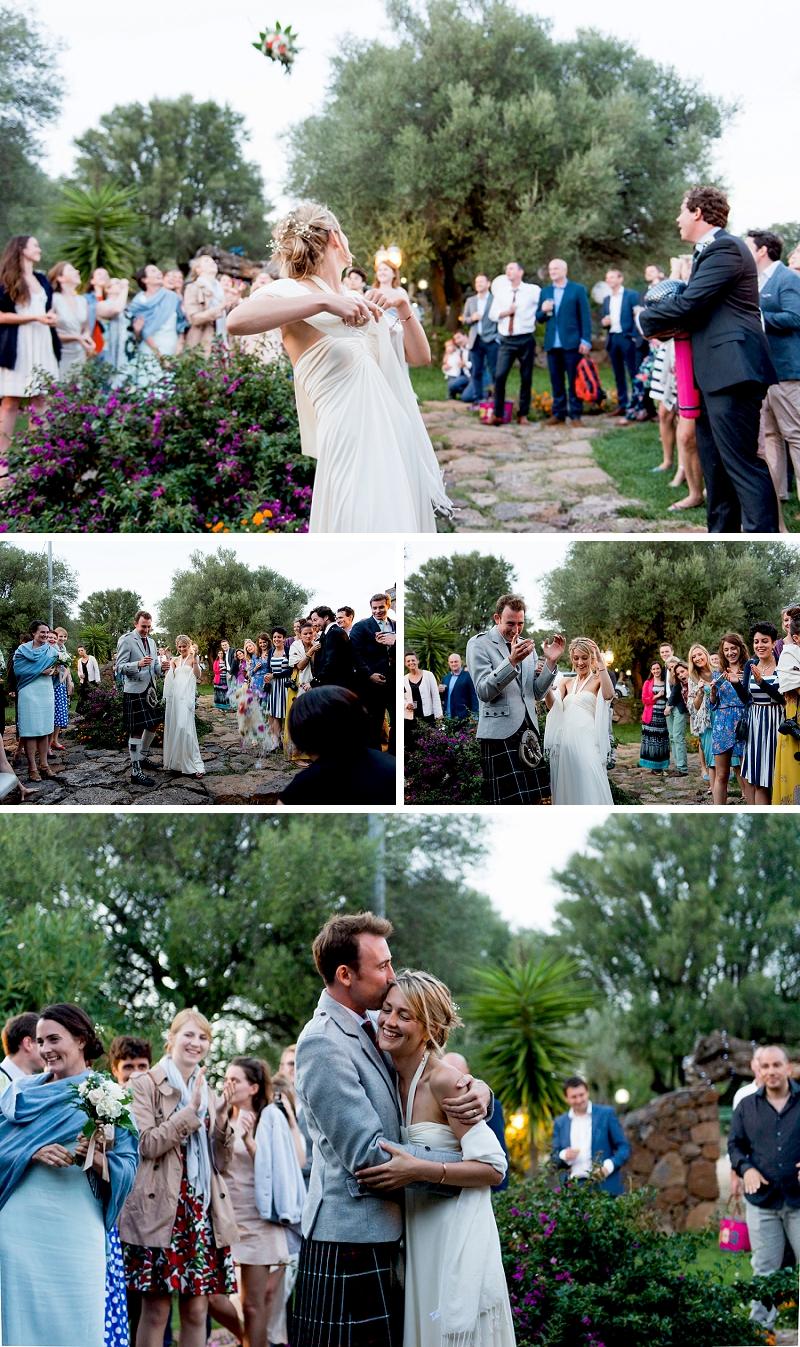 Lancio bouquet sposa Dorgali