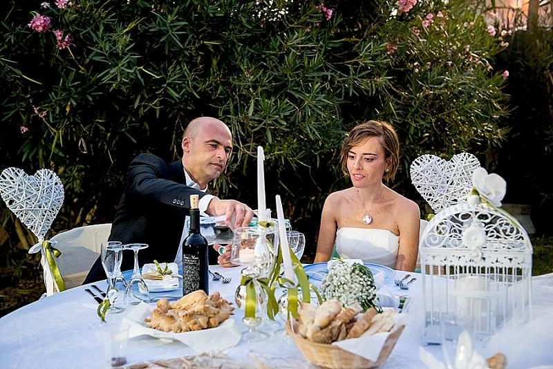 Tavolo sposi allestimenti Blanche Oristano
